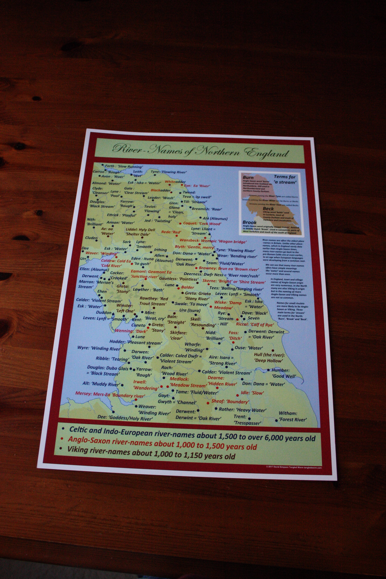 Northern River Names, Meaning and Origin  Poster Print